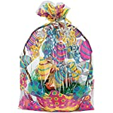 "Easter Basket Bags (12 Pack) 17 3/4"". Cellophane."