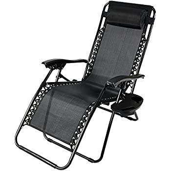 Amazon Com Sunnydaze Outdoor Zero Gravity Lounge Chair