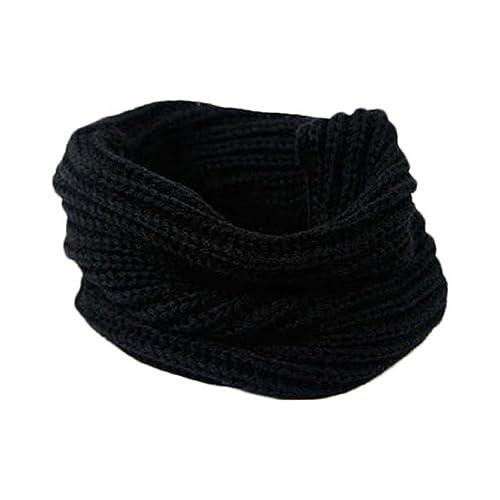 zolimx Bufanda de las mujeres, Tejer bufanda de mezcla de lana de cuello círculo