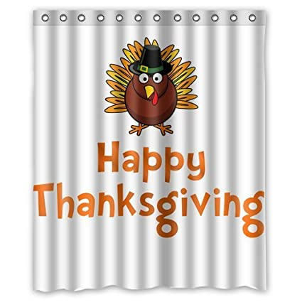 Custom Thanksgiving Turkey Shower Curtain 60quot X 72quot