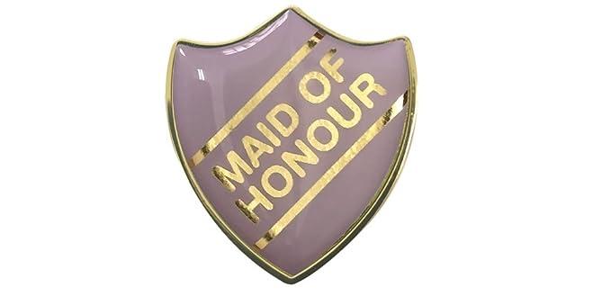 Page Boy Gel Domed School Shield Wedding Badge