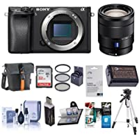 Sony Alpha a6300 Mirrorless Digital Camera Body With Vario-Tessar T 16-70mm F4 ZA OSS, - Bundle With 32GB Class 10 SDHC Card, Holster Case, Spare Battery, Tripod, Software Package And More