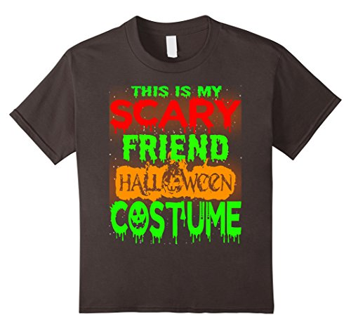 Halloween Costumes For 4 Friends (Kids Halloween Gift This is my Scary Friend Halloween costume Tee 4 Asphalt)