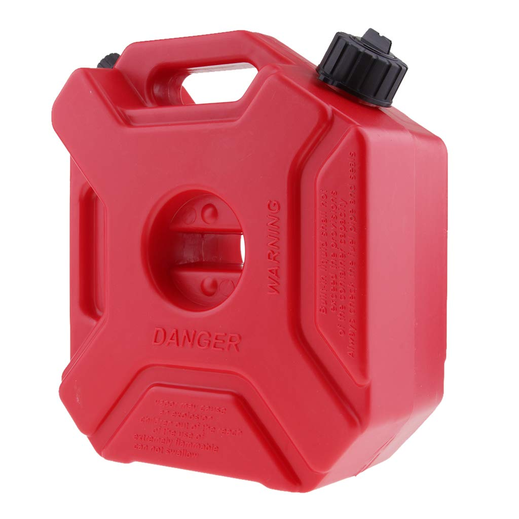 B Blesiya 5L Gas Fuel Tank Petrol Jerry Can Motorcycle Car Portable Storage Container