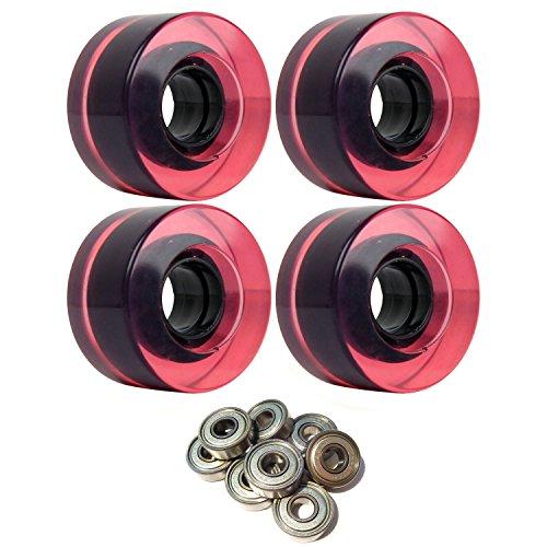 公式症候群かもめスケートボードクルーザーWheels 56 mm x 31 mm 83 aマゼンタCピンククリアABEC 7 Bearings
