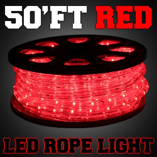 Amazon gothobby 50ft red color led rope light 2 wire flexible amazon gothobby 50ft red color led rope light 2 wire flexible home outdoor christmas decorative musical instruments aloadofball Gallery