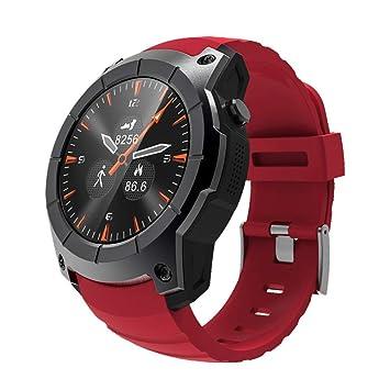 JIANGJIE Reloj Inteligente Pantalla a Color GPS Tarjeta de presión de Aire Llamada Frecuencia cardíaca Reloj