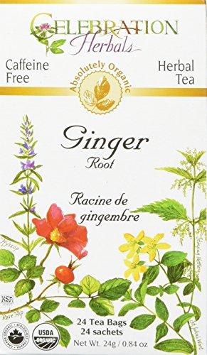 CELEBRATION HERBALS Ginger Root Tea Organic 24 Bag, 0.02 Pound