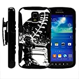Samsung S4 Active Case, Holster, Hard Rugged Armor w/ Kickstand - Baseball Sports Collection - for Samsung Galaxy S4 IV Active I9295, SGH-I537 by MINITURTLE - Catcher in Action