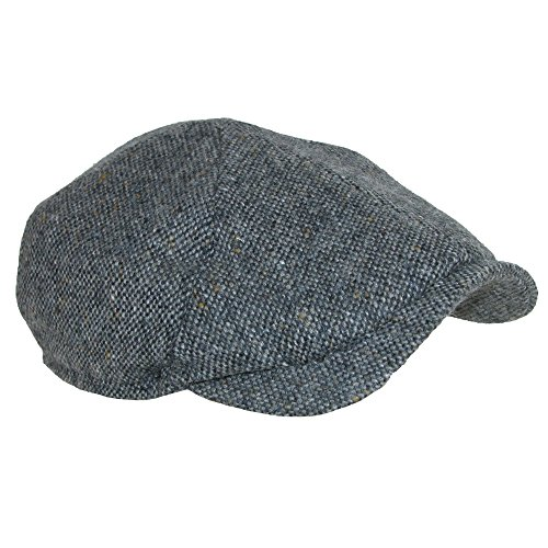 Wigens Milo Slim Fit Magee Newsboy Cap-Grey-59 by Wigens