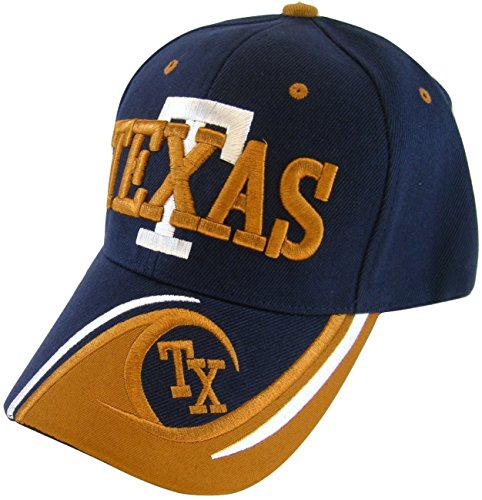 Texas T Wave Pattern Adjustable Baseball Cap (Texas Longhorns Pattern)
