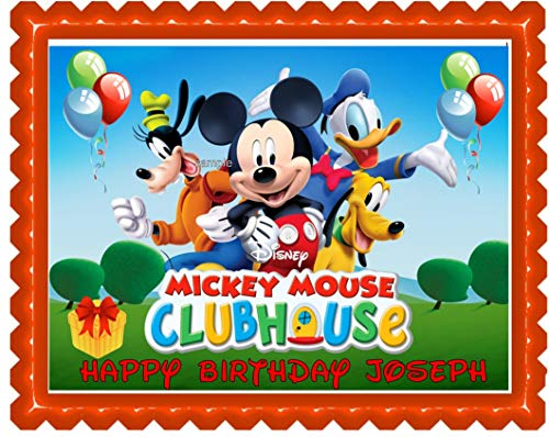 Mickey Mouse Clubhouse Edible Cake Topper Party Edible Cake Image Decoration Sugar Sheet]()