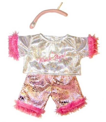 Rock Star Outfits (Girl Rock Star with Microphone Outfit Teddy Bear Clothes Fit 14