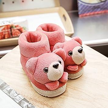 Y-Hui Otoño e Invierno niños casa matriz-subordinada zapatillas de algodón y zapatillas