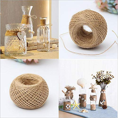 FINCOS Wholesale Gift Packing Hang Tag String 100m 1mm Cord Jute Rope Hemp Twine Natural Ropes DIY Decor Handmade Accessory