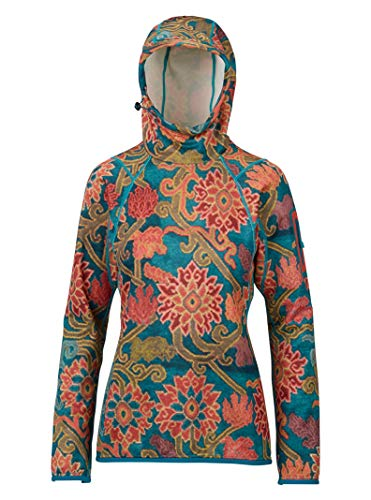 Burton Women's AK Turbine Pullover Fleece, Luca Print, - Burton Jacket Lightweight Fleece Ak
