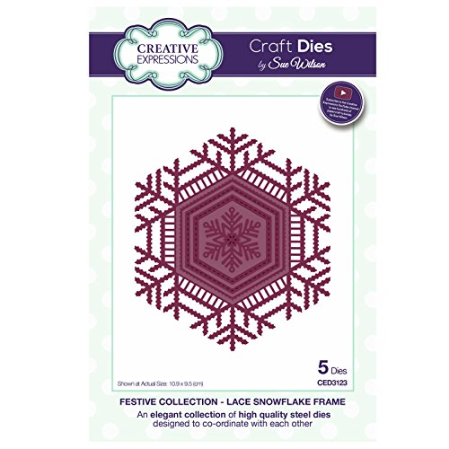 (Sue Wilson CED3123 Festive Collection Lace Snowflake Frame)