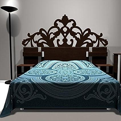 Amazon.com: Bed Decoration Baroque Flower Pattern style Headboard ...