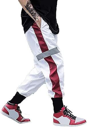 usmley Pantalones deportivos para hombre, para correr, chándal fino con cremallera y doble bolsillo