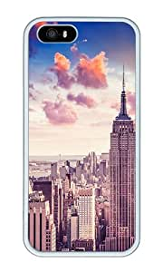 iPhone 5 Case,iPhone 5S Case,VUTTOO Stylish New York City Skyscrapers Soft Case For Apple iPhone 5/5S - TPU White