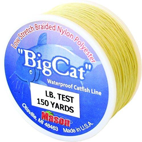 Mason Big Cat Catfish Braided Nylon Fishing Line, 72-Pound