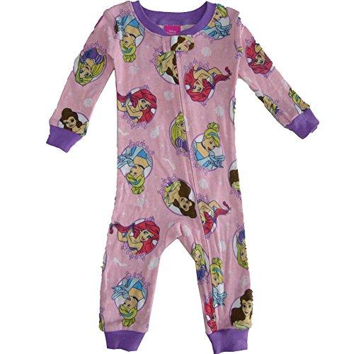 (Disney Baby Girl's Multi-Princess Cotton Non-Footed Pajama, Pink,)