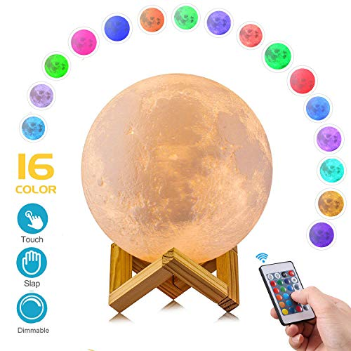 AED Moon Lamp with Stand