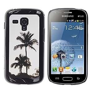 For Samsung Galaxy S Duos / S7562 Case , Trees Evening Sky Sunset - Diseño Patrón Teléfono Caso Cubierta Case Bumper Duro Protección Case Cover Funda