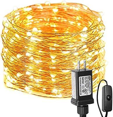 3 M EU Plug Extender Transparent Wire Christmas LED String light Garden Decor RR