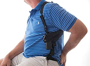 """Gun Holster SHOULDER Ruger Security-9 9mm S&W SW9VE 5900 Glock 17 19 20 21 22 23 26 28 30 31 32 33 36 38 39 Taurus 24/7 PT840 springfield XD9 Walter Creed 4"""" ATI GSG FIRE FLY .22LR Rim fire 5"""
