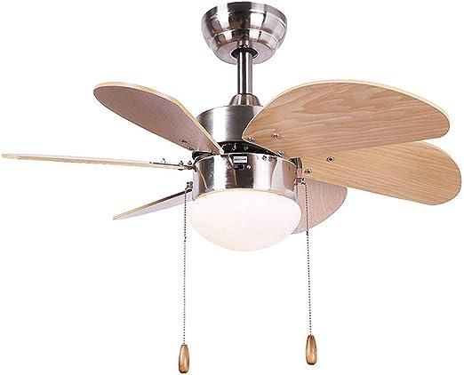 Ventilador techo Luz De Interruptor/Iluminación Interior/Lámpara/Luces/ Lámparas/Sala De Estar/Dormitorio/Cocina/Habitación Infantil 30inch xiuyun: Amazon.es: Hogar