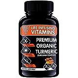 LIV Pure Organic Turmeric Curcumin, Veggie Capsules,1650 mg Curcuma Longa, 30 mg BioPerine, Highest Potency, Advanced Natural Pain Relief, Joint & Healthy Heart Support, Made in USA