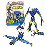 Hasbro Year 2012 Transformers Prime ''Beast Hunters'' Series Deluxe Class 6 Inch Tall Robot Action Figure - #002 Decepticon SOUNDWAVE with Talon Grapple Cannon and Ravage Mini Figure (Vehicle Mode: Recon Drone)