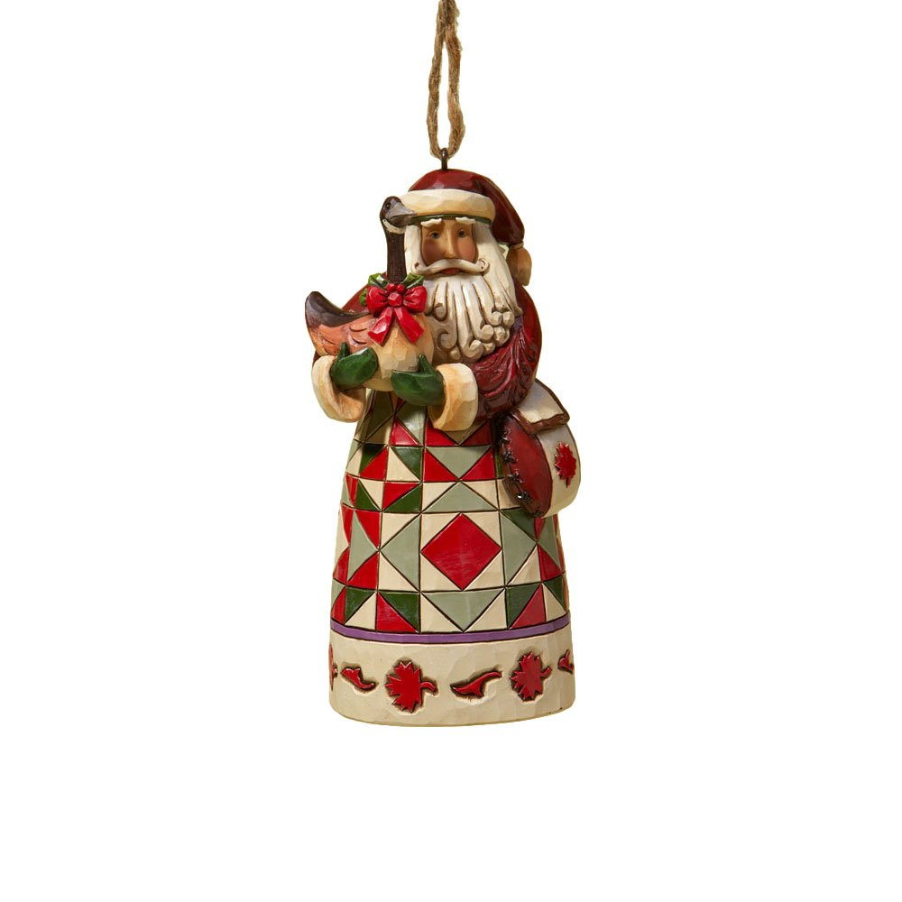 Jim Shore Heartwood Creek Canadian Santa Stone Resin Hanging Ornament, 4.75""