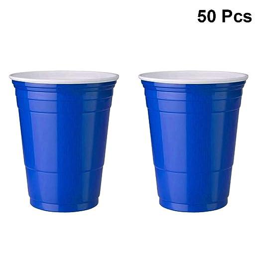 TOYANDONA 50pcs vasos de plástico desechables vajilla fiesta ...