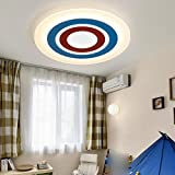 GRFH Bedroom T ceiling light modern minimalist creative slim ceiling lamp led room male girl cartoon children room Lamp 42CM