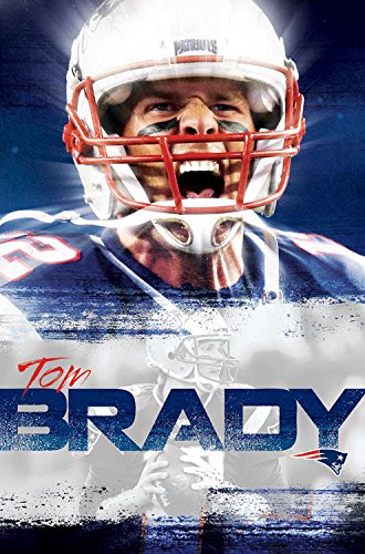 "Trends International Wall Poster New England Patriots Tom Brady 22.375"" x 34"" from Trends International"