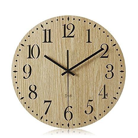 wall clock Ping0fm Ping0fm Reloj de pared relojes de salón con una decoración sencilla y moderna