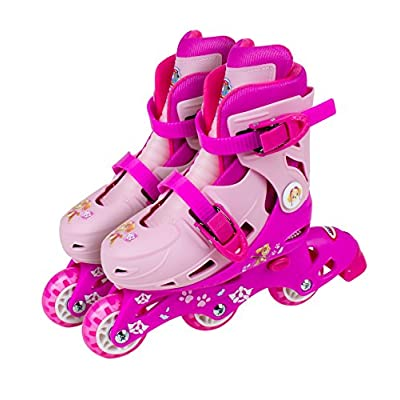 Paw Patrol Skye 2-in-1 Tri to Inline Roller Skates, Size 9-11.5 (OPAW084-F), Pink: Toys & Games