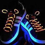 光る靴紐、LED靴紐【オレンジ】