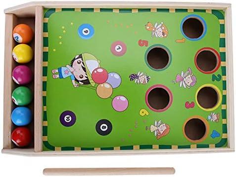 Mini juguete de billar, billar de madera para niños Juego de mesa ...