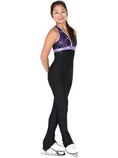 Ice Figure Skating Dress Practice Pants Trousers Leggings w//Rhinestone R289