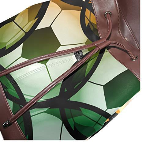 Kvinnor PU-läder sportspel rekreation fritid ryggsäck handväska resa skola axelväska ledig dagväska