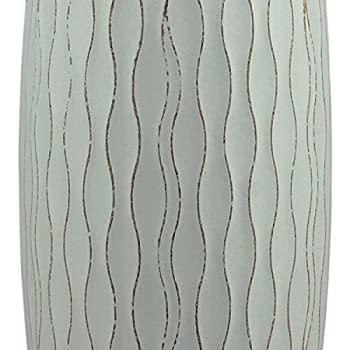 Stonebriar Vintage Textured Pale Ocean Blue Wooden Vase, Nautical Home Decor Accents, for Dried Flowers and Decorative Branch Filler, Large