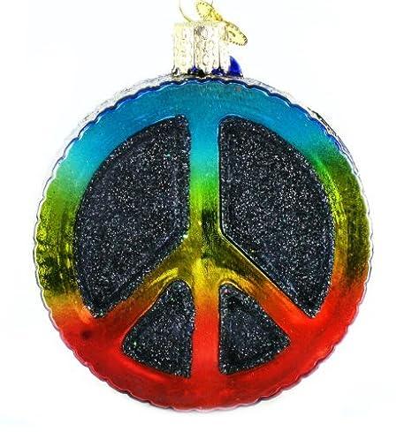 Peace Christmas Sign.Old World Christmas Ornaments Peace Sign Glass Blown Ornaments For Christmas Tree
