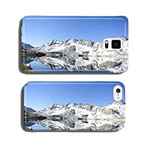 High mountain pass lake reflection cell phone cover case Samsung S5