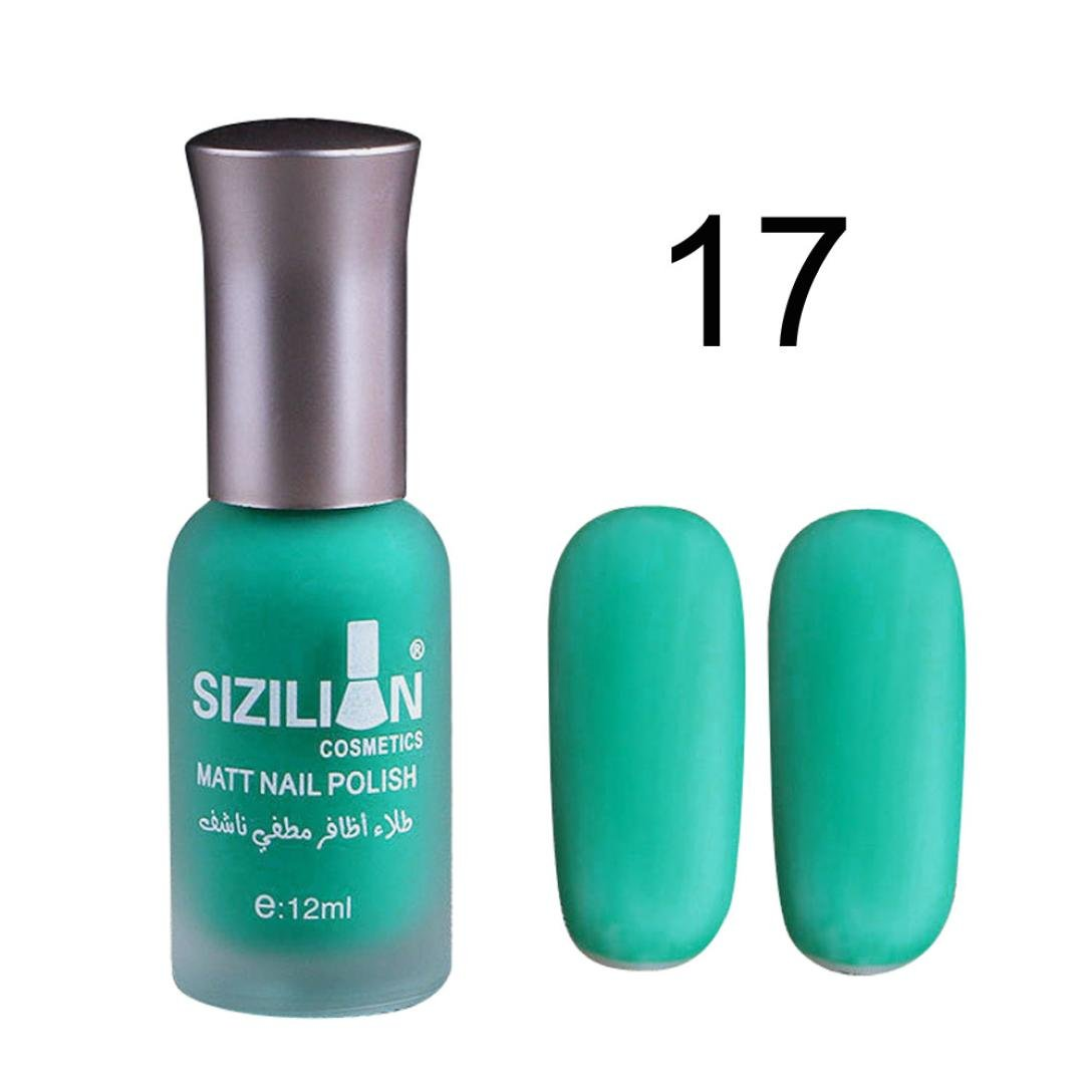 â¤JPJ(TM)❤️ Girls Nail Polish,12ml Sexy Charming Matte Dull Nail Polish Fast Dry Long Lasting Nail Art Matte Nail Polish Gel A professional Nail Art Gift for yourself or your girlfriend (Q)