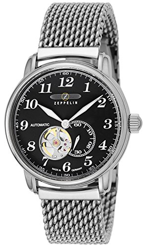 Led watch LZ127 Graf Zeppelin black dial automatic winding 7666M2 Men's [regular imported goods]