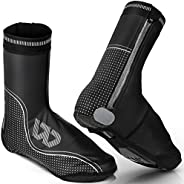 Cycling Shoe Covers, Winter Shoes Cover Water Resistant Windproof with Thermal Warm Fleece Lining Cycling Over