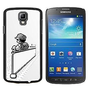 TECHCASE---Cubierta de la caja de protección para la piel dura ** Samsung Galaxy S4 Active i9295 ** --Mario Juegos